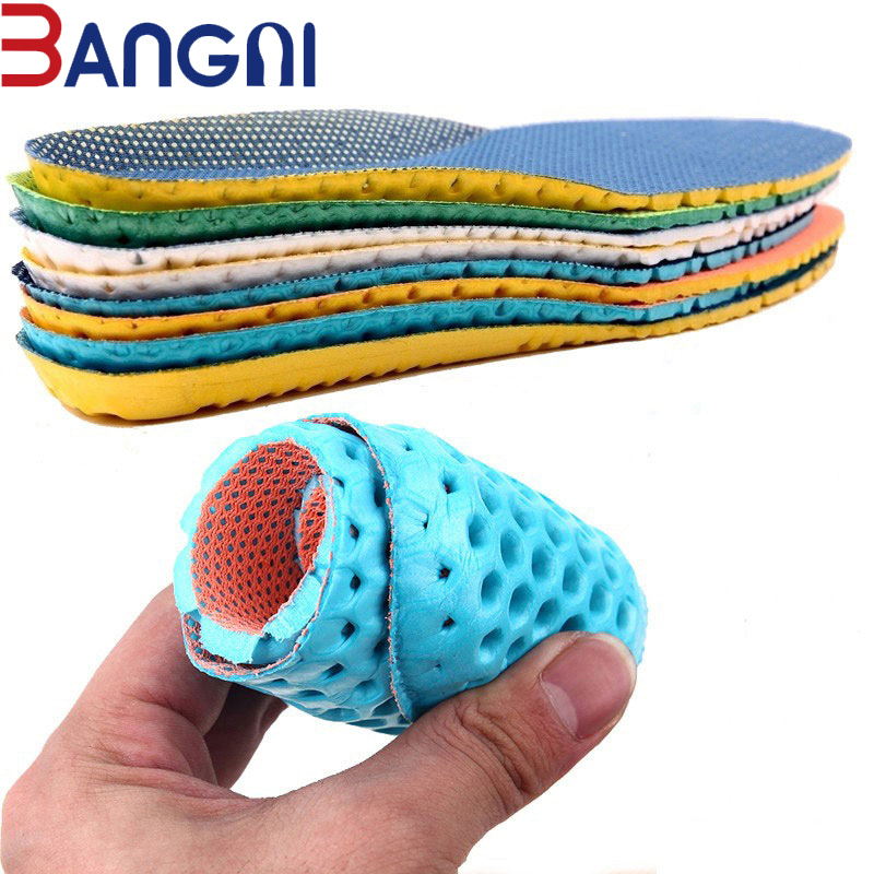 3ANGNI 1 Pair Shoes & Accessories Breathable Soft Light Insoles Memory Foam Sport Arch Support Insert Woman Men Feet Soles 3angni orthotic arch support mild flat feet memory foam 3 4 insoles inset soft message for man woman shoes
