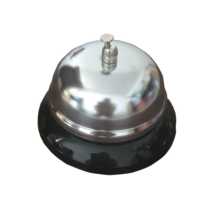 1Pcs New Sivler Color Desk Kitchen Hotel Counter Reception Restaurant Bar Ringer Call Bell Service Ring 8.5cm F2199