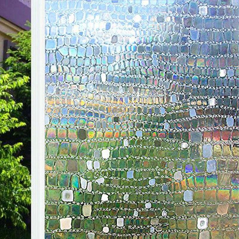 Funlife 90x200cm 3D Heat Control Window Film Privacy Static Vinyl Decoration Self Adhesive for UV Blocking Glass Tint Stickers