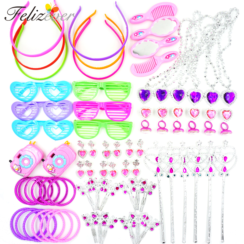 12 pc mini gem Wand Star Princess girl Birthday Party Favors dressup pretend toy