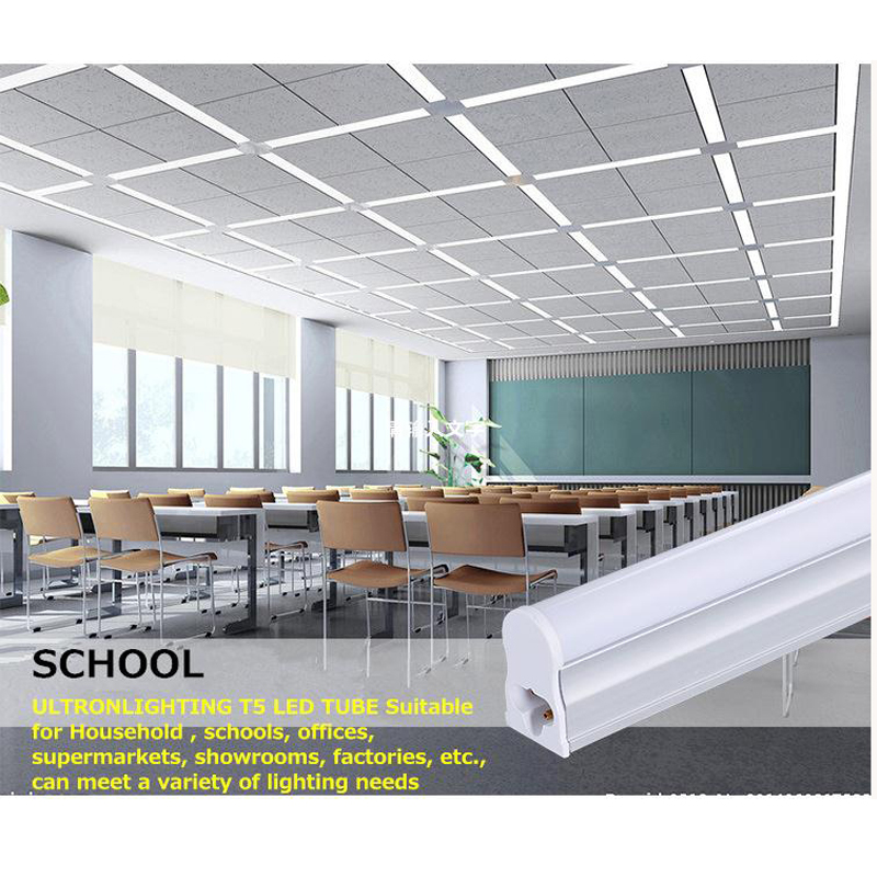 Купить с кэшбэком 5Pcs/Lot LED T5 Tube Super Brightness Replace of Traditional Ballast Fluorescent Closet Kitchen 30CM 1Feet LED Fixture Dynasty
