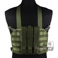 Emerson Tactical High Speed Operator MOLLE Chest Rig Olive Drab Adjustable High Densiy Nylon Vest w/ SMG Magazine Mag Pouch