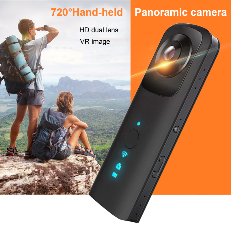 Handheld Camera Video Camera Support WiFi Dual 360 HD Wide Angle FishEye Lens Cam 4K Action Camera for Smartphones