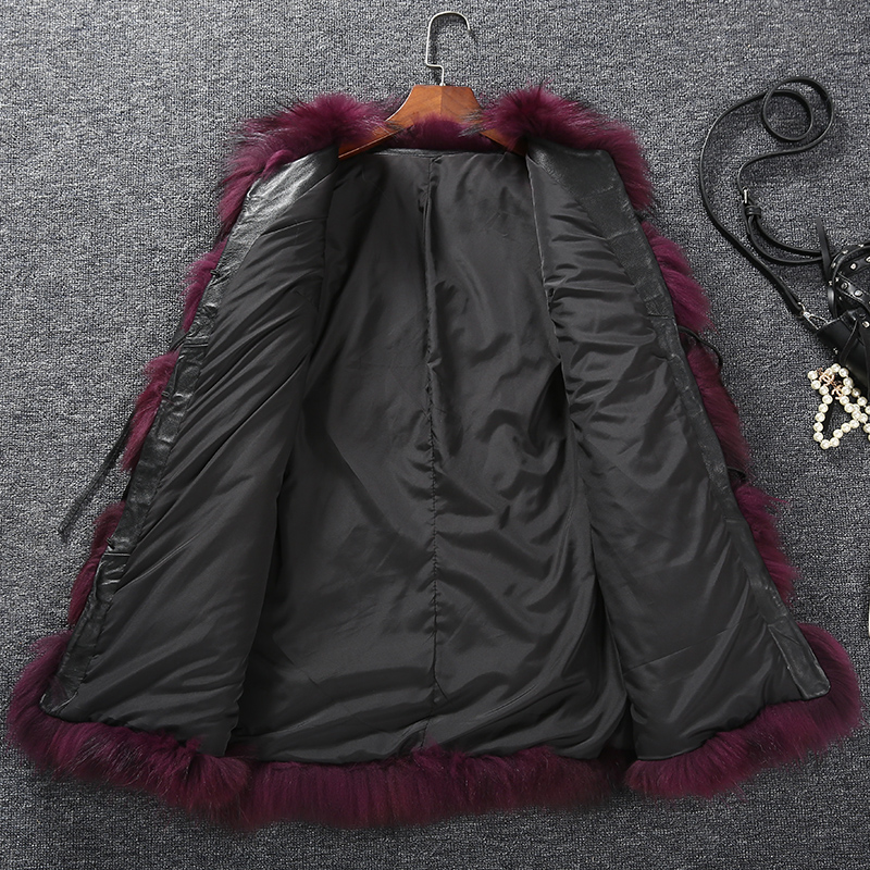 b A Manteau Cuir 2016 Mode Réel Fourrure Chien xxxl Veste Laveur D'hiver Gilet En Naturel Raton Véritable Dame De M Femmes aaRHfwq