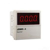 Digital 4 Digit Range 0 9999 Size 72*72mm Electronic Counter AC 24V 220V 380V DC 24V High Quality Professional Panel Meter