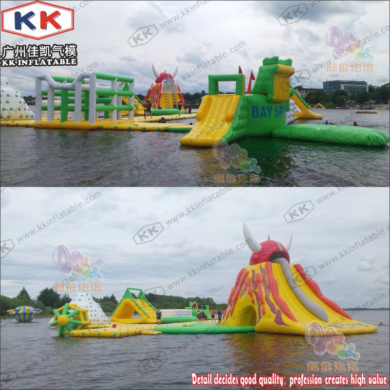 Sea Shipping Waterfront Water Park Adult Inflatable Water Floating Playground image