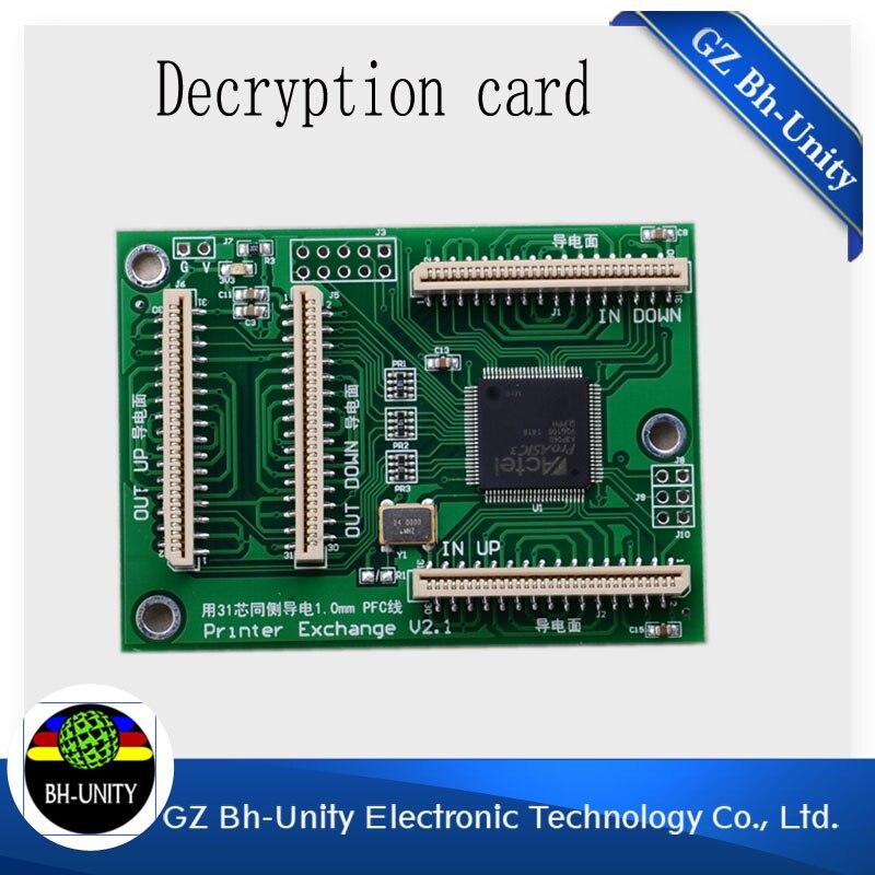 dx5 print head decoder card for Infiniti phaeton challeage digital printer printhead decryption card 18600 head 5 285058