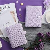 Lovedoki Luxury Purple A6 Notebook Journal Book 6 Hole loose Leaf Binder planner Diary Stationery Store Office & School Supplies