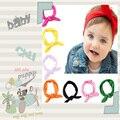 O bebê Caçoa Meninas Headwear Hairband Da Orelha de Coelho Arco Turbante Nó Cabeça Wraps 2016 acessórios para o cabelo Bonito da moda algodão Elástico