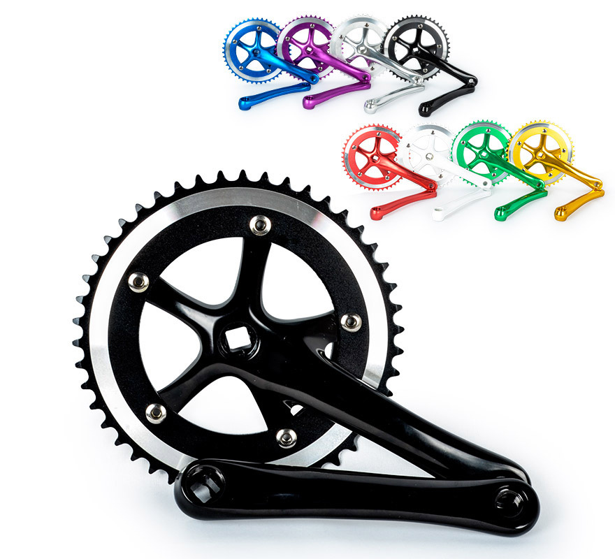 High quality aluminum alloy Fixed Gear Fixie  Cycling Track Crankset Cranks CNC Free shipping fixed gear bicycle bike racing chain wheel 46t crank crankset single speed cycling crankset cranks aluminum alloy accessories