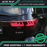 Стайлинга автомобилей чехол для Toyota задние фары для Highlander 2018 Highlander фонарь светодио дный задний фонарь задние фонари все светодио дный задни
