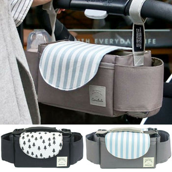 PUDCOCO Universal Buggy Baby Pram Organizer Bottle Holder Baby Stroller Accessory Stroller Caddy Storage Bag
