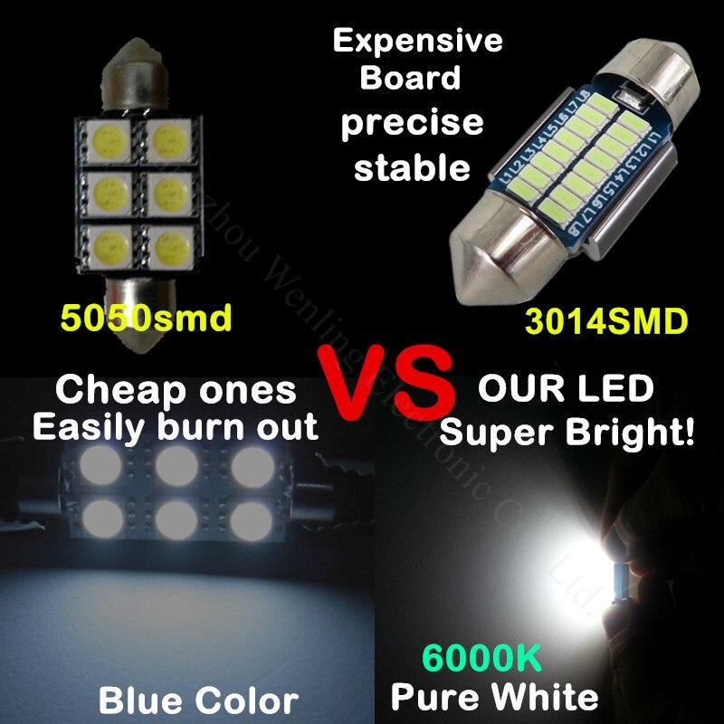 WLJH 2pcs CANbus LED 36mm C5W լամպ լամպի գրանցման - Ավտոմեքենայի լույսեր - Լուսանկար 4