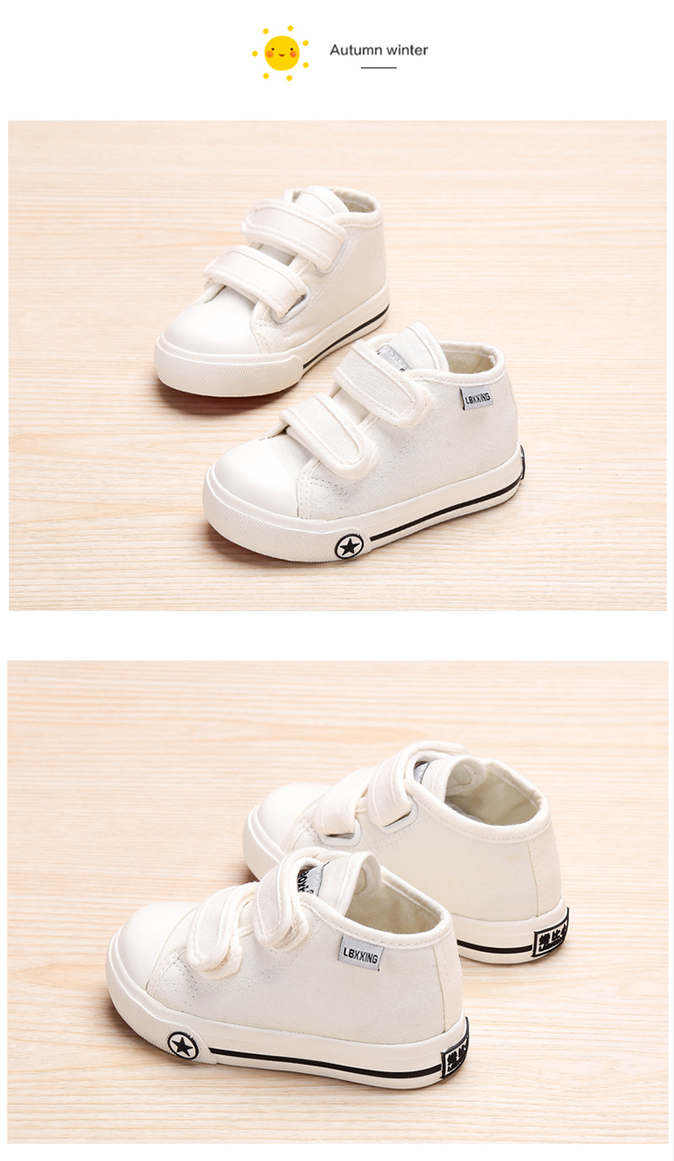 LABIXIAOXING Baby White Canvas Shoes 4 Colors kids Baby Girls and Boys Casual Shoes Flat and Durable Sneakers 7