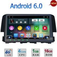 Quad-Core 3G/4G WIFI 9″ Android 6.0 DAB RDS USB BlueTooth AUX Car DVD Player Radio For Honda Civic 2015 2016 GPS Navigation