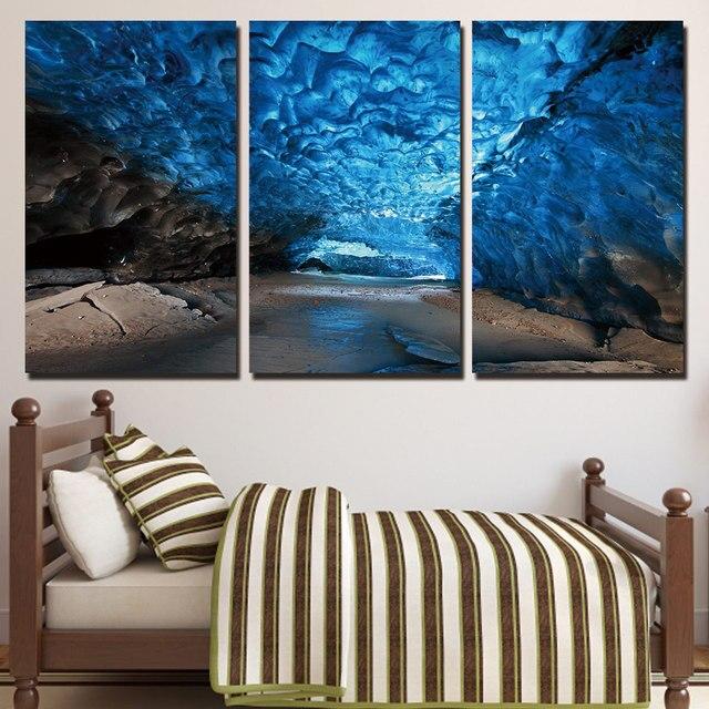 3 panel enmarcado HD impreso hielo cueva brillantes pared arte ...