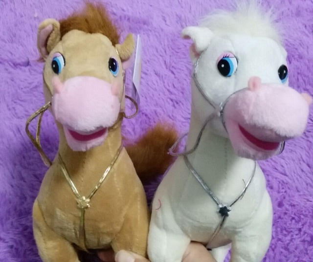 Russian language taiking plush horses doll,electronic toys sounding russian children toy Christmas birthday child gift