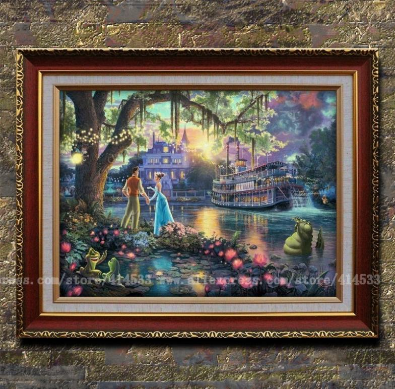 Thomas kinkade prints art oil painting the princess and - Home interiors thomas kinkade prints ...