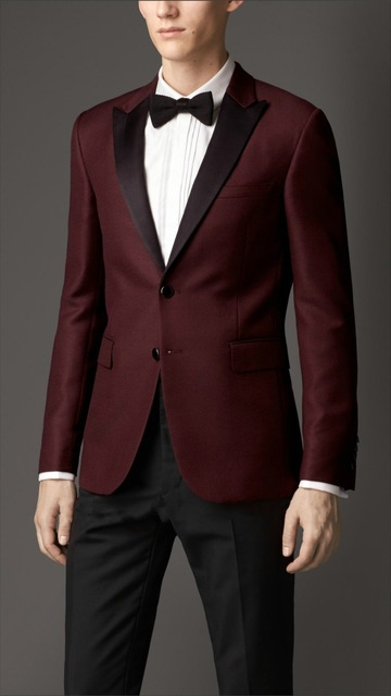 2019 New Listing Men's New Suit (wine Red Shirt + Black Pants) 2 Pieces Custom New Wedding Wedding Dress Structural Disabilities