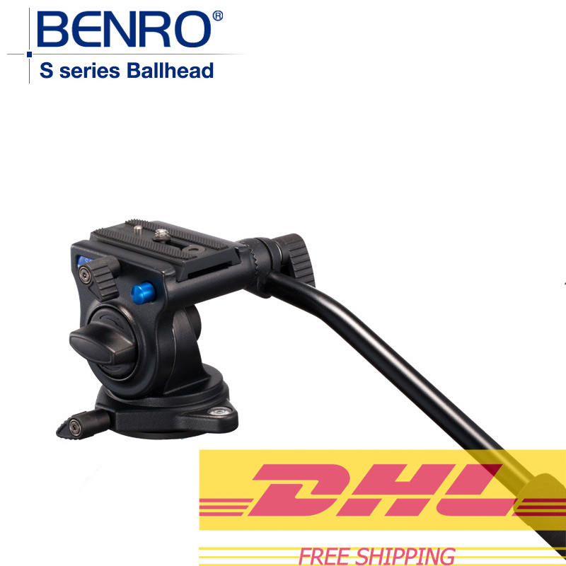 Benro S2 Pro Video Heads Aluminum Hydraulic Head For Video Tripod QR4 Quick Release System Max Load 2.5kg DHL Free Shipping dhl gopro benro a550fhd2 urban elf kit aluminum tripod three dimensional head camera tripod
