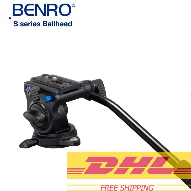 Benro S2 Pro têtes vidéo tête hydraulique en aluminium pour trépied vidéo QR4 système de dégagement rapide charge Max 2.5 kg livraison gratuite
