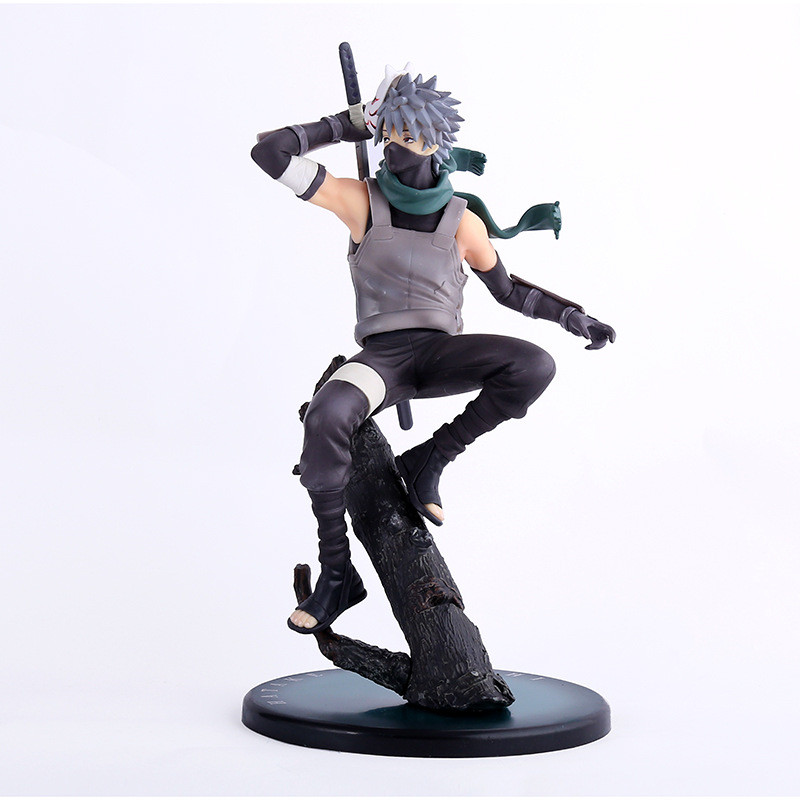 Anime Naruto Figure Hatake Kakashi Toys PVC Action Figure Kids Toys Brinquedos Collectible Model Juguetes 23cm anime naruto brinquedos action