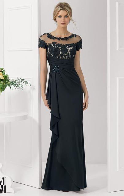Hot Sell Short Sleeve Chiffon Designer Awesome Evening Gowns