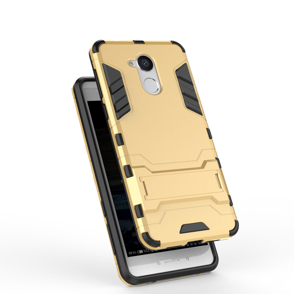Dual Layer Tank Hybrid Rugged Case Hard PC+TPU Shockproof Impact Drop Protective Kickstand Cover For Huawei Enjoy 6s/Honor 6C @