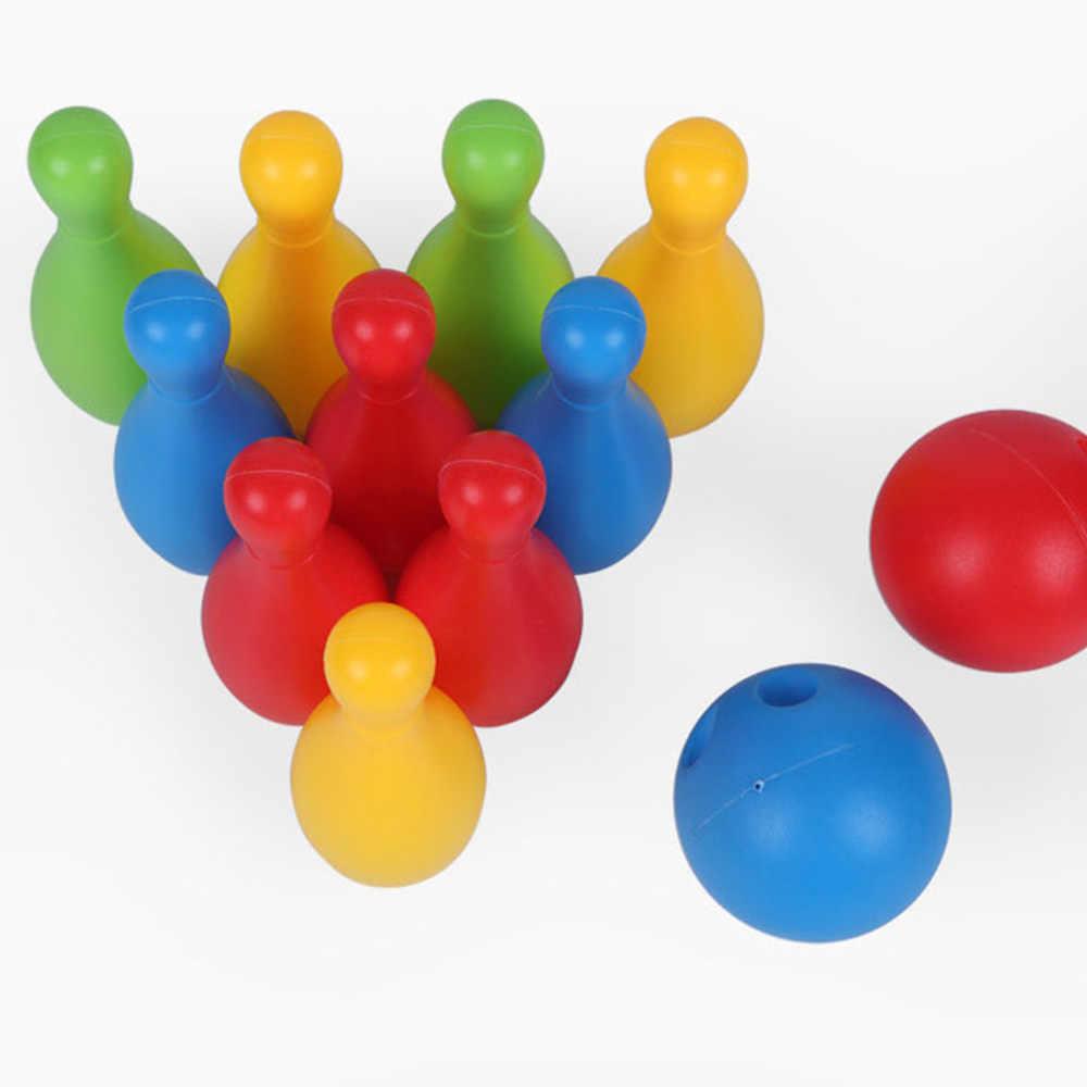 Детские пластиковые боулинг набор мини-взаимодействие Досуг развивающие игрушки с мячом и булавками наружные игрушки