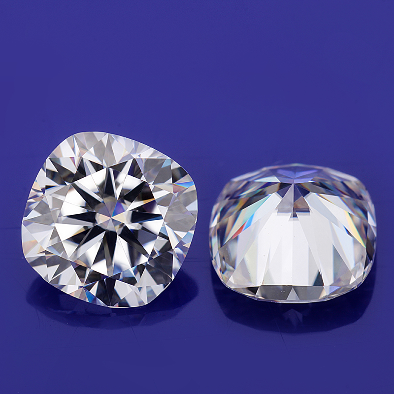 EF White Color 7.5*7.5mm Cushion Shape Brilliant Cut Moissanites Loose Gems Stones for Jewelry Making