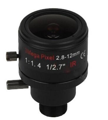 (With IR filter) 3 Megapixel Fixed Iris M12 HD 2.8-12mm Varifocal cctv IR HD Lens,F1.4,manual focus zoom,view angle 90~28degree
