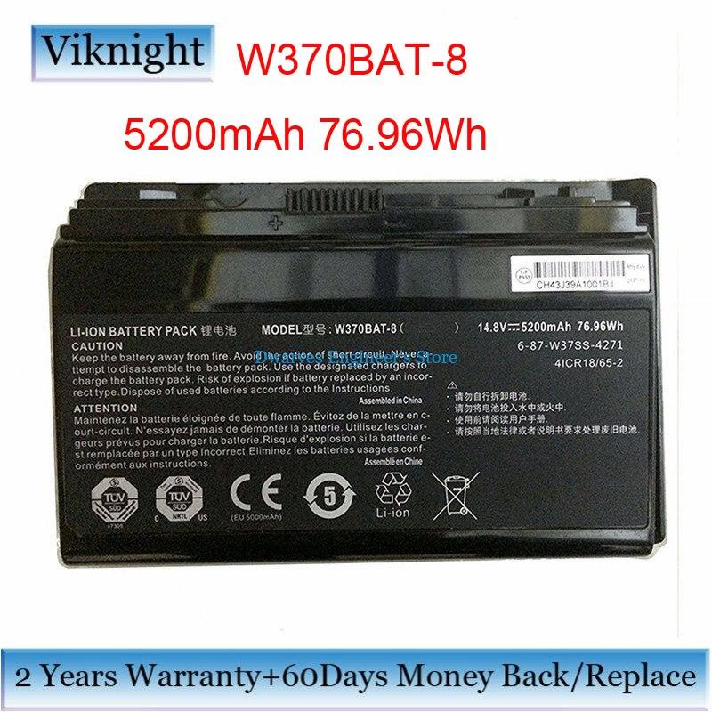 все цены на Genuine CLEVO W370BAT-8 Battery For Clevo P177SM-A W350ET W350ETQ W350ST W370 W370BAT-8 Battery 6-87-W370S-4271 5200mAh 76.96Wh онлайн