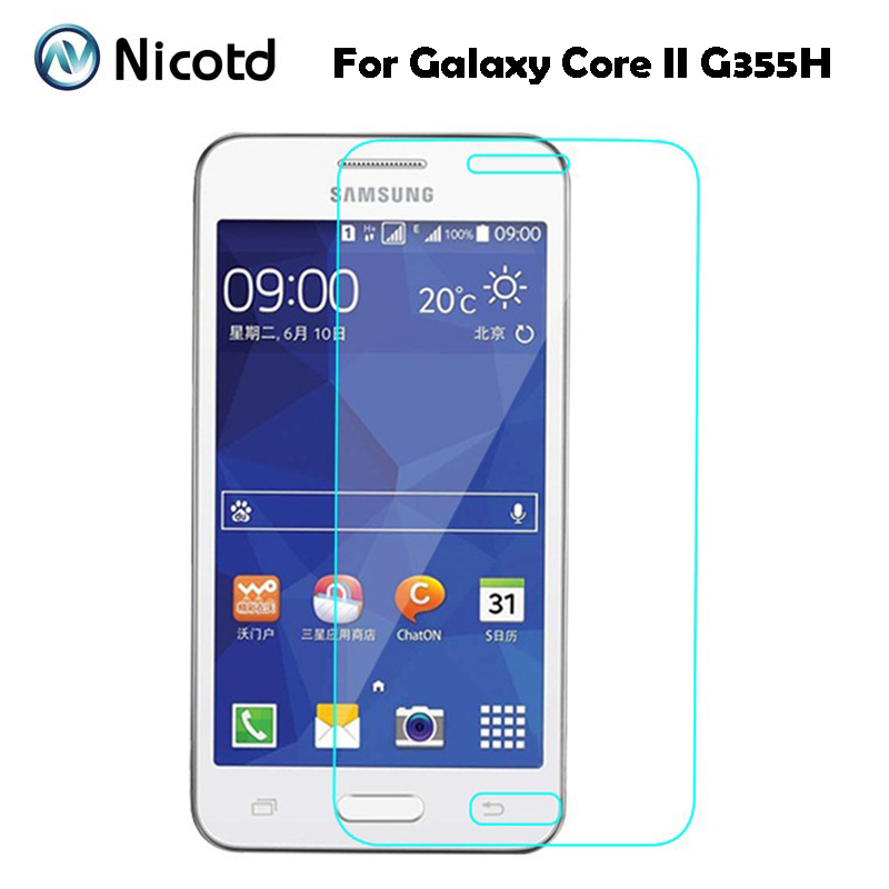 For Samsung Galaxy Core 2 Anti Scratch Tempered Glass Protective Film Screen Protector On Core2 G355h Sm-g355h Sm-G355HN