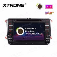 "7"" Android 8.1 OS Car DVD Multimedia GPS Radio for Volkswagen Touran 2003-2014 & Tiguan 2007-2013 & T5 Transporter 2010-2014(China)"