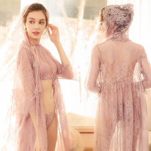 Transparent Intimates Women Robes Female Womens Lace Sexy Sleepwear Bathrobes Spring And Summer Lingerie Sets Bathrobes Pajamas