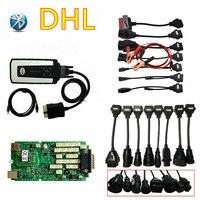 DHL бесплатно VD DS150E CDP зеленая отдельная печатная плата с/без Bluetooth + Автомобильный Кабель для тележки obd obd2 новейший 2016r0/2015r3 программное обесп