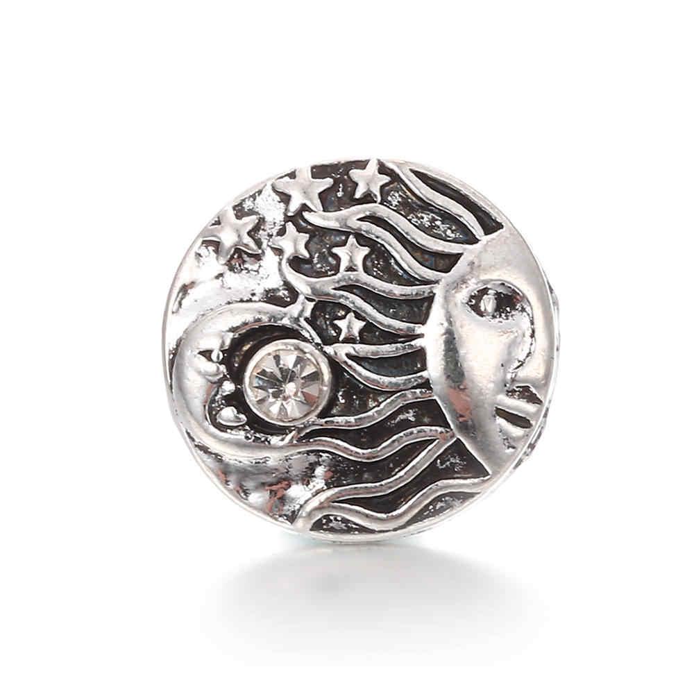 Wysokiej jakości 18mm zatrzask metalowy guzik w stylu leśnym przycisk zatrzaskowy przycisk biżuteryjny TZ0052