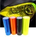 12 colores 30 cm * 100 cm brillante camaleón Auto etiqueta engomada del coche luz de niebla trasera de la linterna del vinilo del tinte película hoja Car decoración Decal