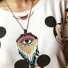 Go2boho mal de ojo collar MIYUKI Collares colgante Bijoux Femme Kolye Collares joyería de las mujeres hecho a mano tejido regalo Delica cuentas