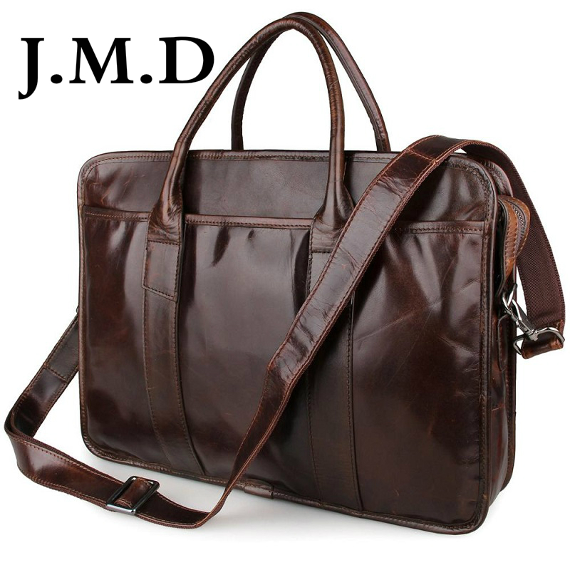 J.M.D 2017 New Arrival 100% Leather Briefcases Men's Cow Leather Messenger Shoulder Bag Handbags 7321