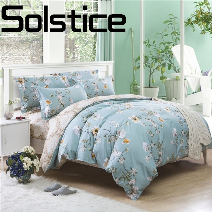 Solstice Home Textile Fashionable skin-friendly comfort soft reactive printing bedding Sheets Pillowcase Quilt cover 3/4pcs