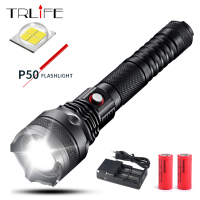 XHP50 XHP70 Flashlight Tactical LED Torch Light 26650 Rechargeable Battery Aluminum Lamp Cup Direct Charging Powerful Flashlight