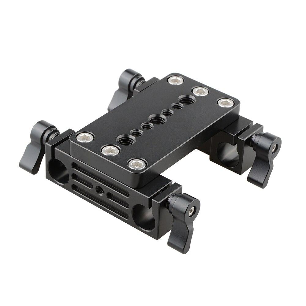 Tripod Mount Quick Release Baseplate 15mm Clamp Rod Railblocks Block Adapter Fr 15mm Rod Support DSLR Shoulder Rig C1134 fotga dp500iii adjustable quick release baseplate for 15mm rod dslr camera rig