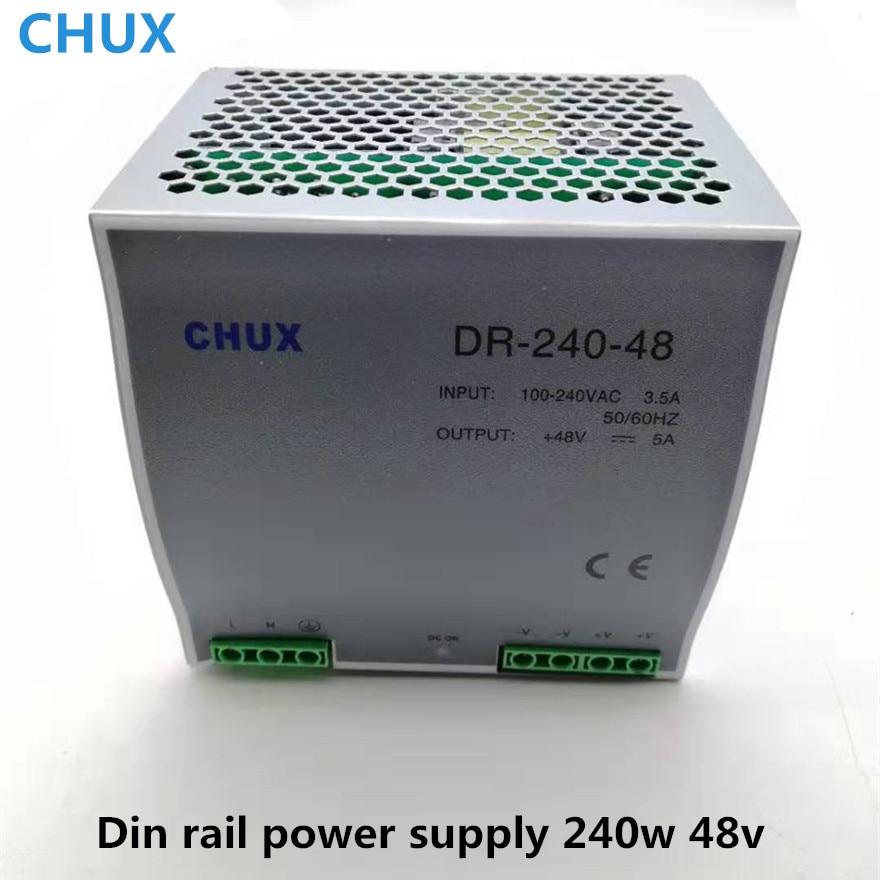 240 W 48 V alimentation à découpage 5A Din type de rail DC AC DR240W commutateur de sortie unique transformateur LED pilote SPMS