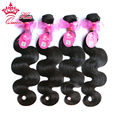 Queen Hair Products Brazilian Virgin Hair Body Wave 100% Human Hair 4pcs/lot Unprocessed Hair Can Be Dyed By QueenHair