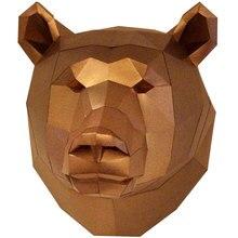 DIY животные 3D Медведь головоломка медведь бумажная модель подарок развлечения забавное украшение ребенок красивый DIY медведь головоломка высокая производительность