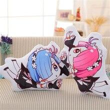 63*38 cm Anime Re: Leven in een Verschillende Wereld Van Nul Rem Ram Kussen Knuffels Leuke kussen Pluche