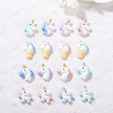 5pcs Mixed cute unicorn flatback resin cabochon For DIY Phone Deco and Scrapbook Embellishment