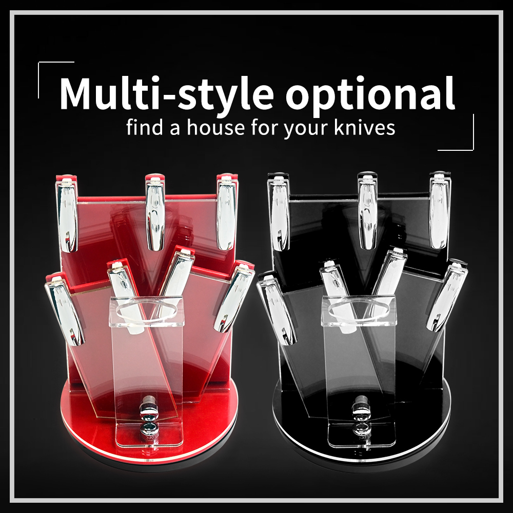 XYj Knife Holders 360 Degree Free Rotation Kitchen Knife Block Universal Ceramic Knife Storage Stand Holder Kitchen Dining Gift