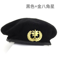 free shipping New Metal Emblem Men Women Star Beret Military Hats Adjustable Costume Party Cosplay Perform Stage Props Navy cap